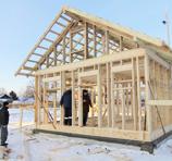 Каркасный дом можно строить зимой
