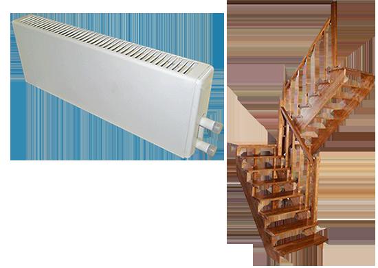 При строительстве каркасного дома лестница и отопление в подарок